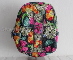 Vera Bradley Small Backpack Jazzy Blooms New with Tag #VeraBradley #Backpack