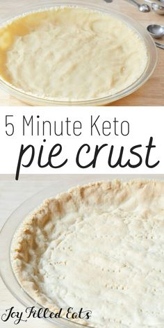 If you are looking for a keto pie crust recipe that can be either rolled or pressed into a pie plate you can stop right here. This easy Low Carb Pie Crust has only 3 ingredients and works well for both and for sweet or savory recipes on a keto meal plan. Low carb pumpkin pie, pecan pie, cheesecakes, pudding pie, custard pies, tarts, tartlets, and even empanadas come out perfectly.And this easy crust recipe is also gluten-free, grain-free, sugar-free, and Trim Healthy Mama friendly. Easy Crust Recipe, Pie Crust Recipes, Grain Free Pie Crust Recipe, Sweet Pie Crust Recipe, Keto Pecan Pie Recipe, Gluten Free Crust, Low Carb Sweets, Low Carb Desserts, Keto Cookies