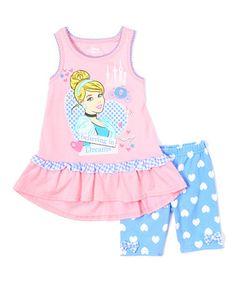 Look at this #zulilyfind! Pink Disney Cinderella Tank & Blue Shorts - Toddler #zulilyfinds