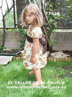 ropa de niños - Vestido en delhi marrón de la colección El Taller de la Abuela - moda infantil