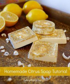 Homemade Citrus Soap Tutorial on EverythingEtsy.com