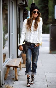 Because your boyfriend looks better without them anyway...25 Ways To Wear Boyfriend Jeans