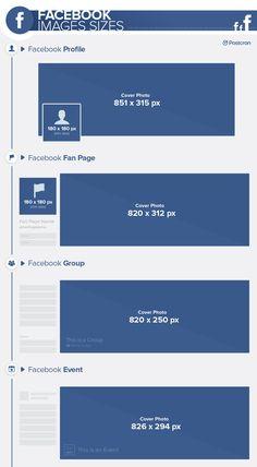 #Facebook #ImageSizes 2017 - #FacebookCoverSize #FacebookProfilePhotoSize