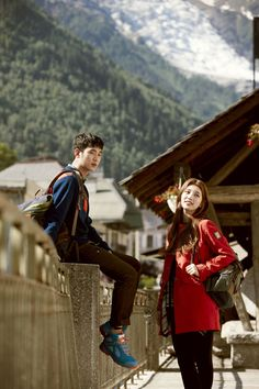 Bean Pole Outdoor Fall 2013 Campaign With Mont Blanc Lovers Kim Soo Hyun & Suzy Hyun Young, Miss A Suzy, Dream High, Korean Babies, Asian Celebrities, Bae Suzy, Korean Star, Couple Outfits, Kpop Fashion