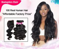 Brazilian Body Wave Virgin Remy Hair Bundles with Lace Closure Brazilian Virgin Hair Weave Body Wave 3 bundles with Closure Body Wave Mother's Day Promotion, Virgin Remy Hair, Waves Bundle, Wave 3, Brazilian Body Wave, Lace Closure, Weave Hairstyles, Braided Hairstyles