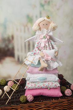 Bambola Tilda la principessa e il pisello. Interni di LightDolls