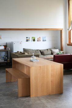 Gorgeous, minimalist handmade table
