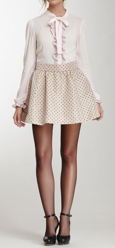 Pretty! I would prob add leggings tho...otherwise it might get kinda chilly! lol