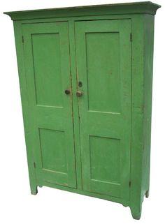 Old Apple Green Cupboard - Bing Images
