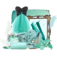love the turquoise dress!!