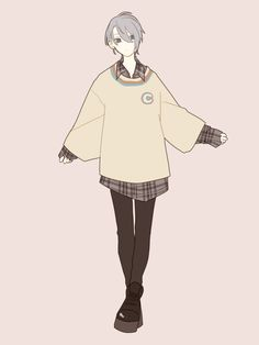 Handsome Anime Guys, Cute Anime Guys, Cute Guys, Boy Art, Anime Outfits, Character Design Inspiration, Girl Cartoon, Anime Style, Aesthetic Art