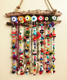 Balkon – home accessories Felt Crafts, Diy And Crafts, Crafts For Kids, Arts And Crafts, Deco Marine, Evil Eye Jewelry, Felt Ornaments, Diy Art, Wind Chimes