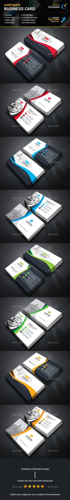 Business Card Bundle — Photoshop PSD #both side design #graphic • Available here → https://graphicriver.net/item/business-card-bundle/18036824?ref=pxcr