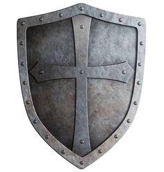 Baixar - Escudo do cavaleiro cruzado medieval isolado no branco — Imagem de Stock Medieval Tattoo, Armadura Medieval, Armor Of God Tattoo, Tattoo Familie, Apocalypse Tattoo, Celtic Shield, Spartan Tattoo, Medieval Shields, Knight Shield