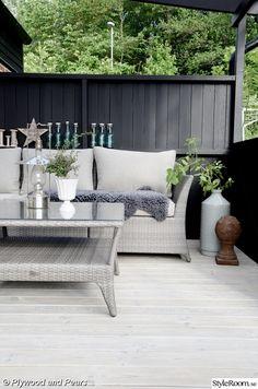 trädäck,uteplats,svart,konstrotting,loungesoffa