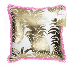 LILLY PULITZER LARGE PILLOW FLAMENCO 18 X 18 LG Indoor Outdoor Home Decor NEW #LillyPulitzer