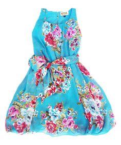 Look at this #zulilyfind! Blue Floral Kate Bubble Dress - Toddler & Girls #zulilyfinds