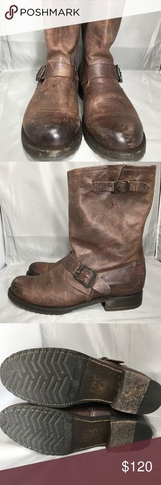 Frey Veronica Short Boot Women's sz 9 Frye Veronica boot in brown. Boot is in great condition overall. Light signs of wear on Toe box very little wear on soles Frye Shoes Combat & Moto Boots