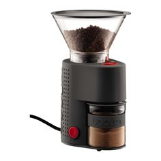 BISTRO | Electric coffee grinder Black  I've used this grinder every day for a year to make my French Press coffee. You can vary the grind size and no matter what size you select, your beans will be ground to spec.