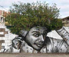 9 bilder på människor som använt växter för att göra perfekt gatukonst