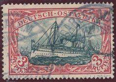 German Colonies, DP-Ostafrika 1901, 3 R.dunkelrot/grünschwarz, gestempelt Pracht, gepr. Bothe BPP (gestempelt, Mi.-Nr.21b, Mi.EUR 230,--). Price Estimate (8/2016): 70 EUR.