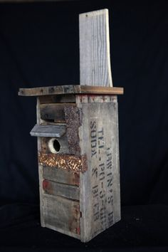 Hand Made Bird House Crafted From Recycled And Antique Crates, Drift Wood And…