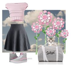 """Here kitty"" by blubrgndy on Polyvore featuring Chicwish, Alexander McQueen and Vans"