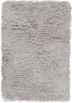 Surya Candice Olson Design Whisper Shag Hand Woven Polyester Rugs - Light Gray