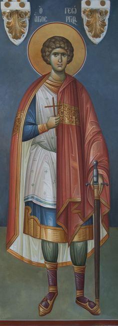 Byzantine Icons, Byzantine Art, Orthodox Christianity, Saint George, Orthodox Icons, Saints, Princess Zelda, Sculpture, Painting