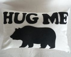 Bear Hug Throw Pillows