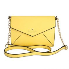 Kate Spade New York Cedar Street Monday Cross Body Handbag Yello Handbags Uk, Luxury Handbags, Cross Body Handbags, Yellow Purses, Yellow Handbag, Kate Spade Outlet, Best Bags, Kate Spade Purse, Leather Handle