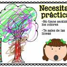 FREEBIE Coloring Rubric in Spanish