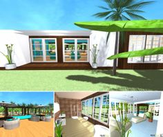 A colorful beach house for your next holidays! Made with Home Design 3D app. See the gallery here: http://www.homedesign3d.net/EN/galleries/18216