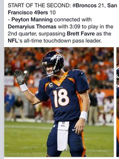 Manning is the All Time Touchdown Pass Leader!!