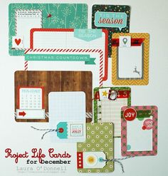 Project Life Cards for December - Scrapbook.com