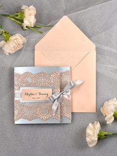 Vintage Wedding Invitation Lace wedding by 4LOVEPolkaDots on Etsy, $6.20