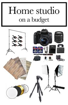 Online Photography Jobs - Everything you need for a home photography studio on a budget - Jennadesigns Photography Jobs Online Photography Jobs, Photography Basics, Photography Lessons, Photography Equipment, Photography Business, Photography Tutorials, Light Photography, Creative Photography, Digital Photography
