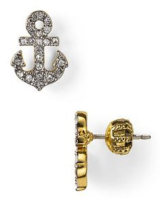 Juicy Couture Set Sail Pave Anchor Stud Earrings | Bloomingdale's