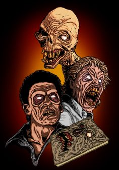 Evil Dead II Deadites by ~liquid-venom on deviantART Evil Dead Trilogy, Evil Dead Movies, Evil Dead 1981, Ash Evil Dead, Scary Movie Characters, Scary Movies, Cult Movies, Arte Horror, Horror Art