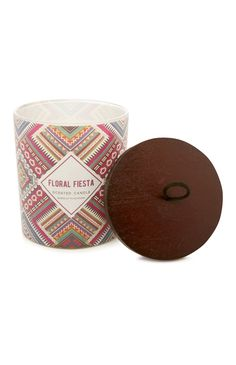 Floral Fiesta Wooden Lidded Candle
