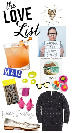 The Love List Love List, Got The Look, Self Improvement, Feelings, Blog, Sweet, Closet, Outfits, Accessories