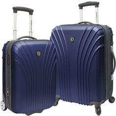Traveler's Choice 2-Pc Hardside Luggage Set, Green