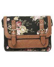 Floral Structured Crossbody Bag