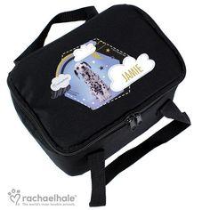 Personalised Rachael Hale Black Lunch Bag - Dalmatian