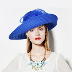Summer straw navy hats for women UV package flower wedding hat 272bc2a19b9d