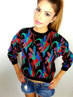 Vintage 80's Sweater/Women's Outerwear /Women's by ReDoneByShari
