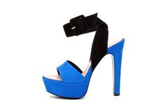 Barbara Bui Cobalt Colorblock Platforms