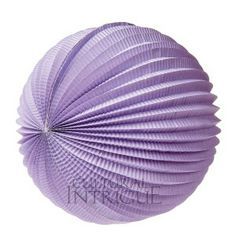 Lilac Purple Accordion Paper Lantern.  12 inch diameter accordion lantern. Great decoration alone or for use with our lighting item LED10.