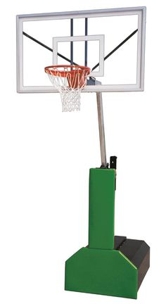 First Team Thunder Pro Portable Adjustable Basketball Hoop 60 inch Tempered Glass from NJ Swingsets