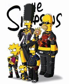 the gothic simpson! homer is a gothic / rocker marge is a dark gothic Bart is an emo ^ ^ Lisa is a punk and Maggie is a mix of all! the simpson are the . The Simpson gothic Simpsons Drawings, Simpsons Art, Cartoon Art, Cartoon Characters, Geeks, Morbider Humor, Los Simsons, Rock Poster, Animation
